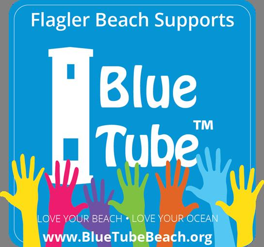 Flagler Beach Supports Blue Tube