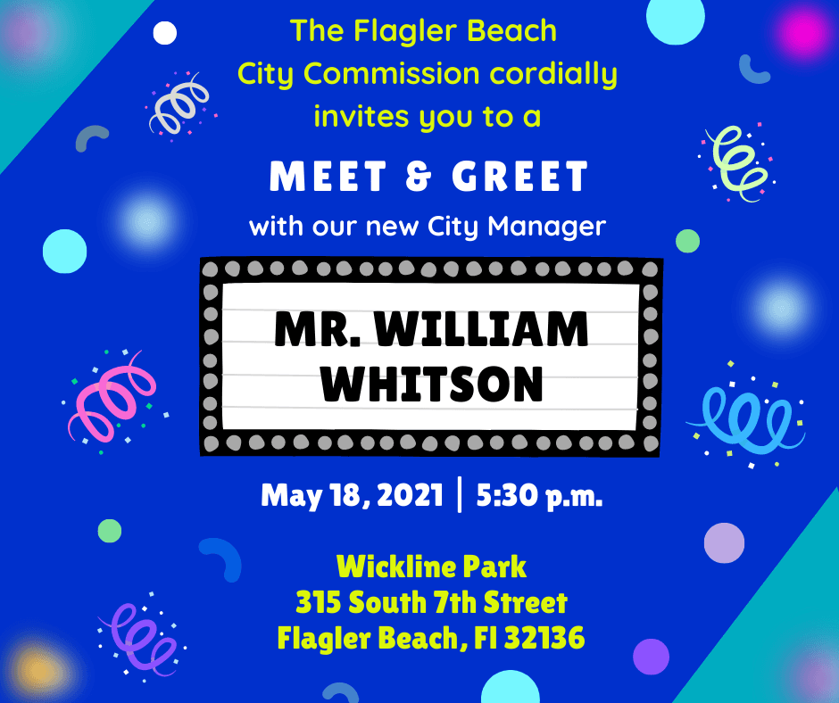 2021 - Invitation for City Manager Meet and Greet I